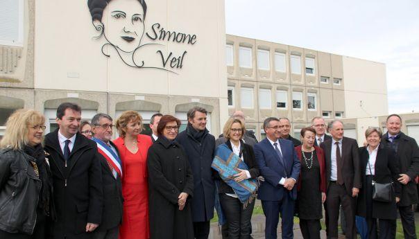 Simone Veil, le nouveau visage du collège de Chénérailles