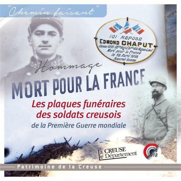 Les plaques funéraires des soldats Creusois de la Première Guerre mondiale